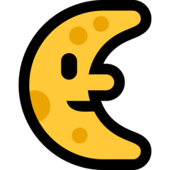 Last Quarter Moon Face Emoji on Windows