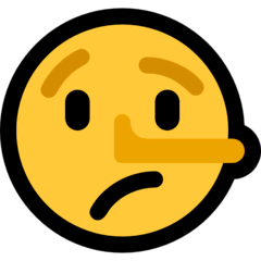 Lying Face Emoji on Windows