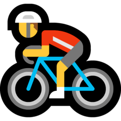 Ciclista uomo Emoji Windows