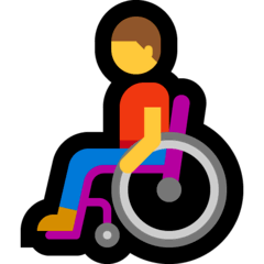 Man In Manual Wheelchair Emoji on Windows