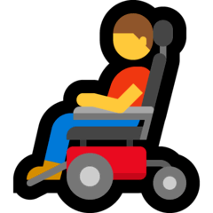 Man In Motorized Wheelchair Emoji on Windows