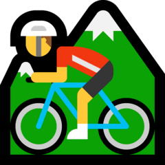 Man Mountain Biking Emoji on Windows