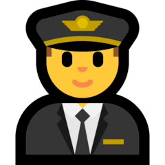 ️Man Pilot Emoji on Windows