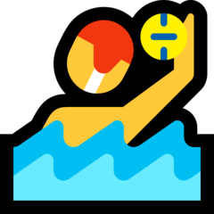 Man Playing Water Polo Emoji on Windows