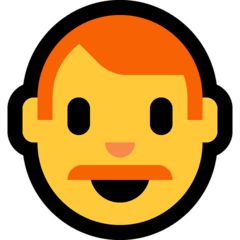 Man: Red Hair Emoji on Windows