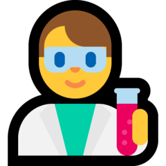 Man Scientist Emoji on Windows