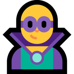 Man Supervillain Emoji on Windows