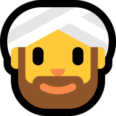 Homem com turbante Emoji Windows