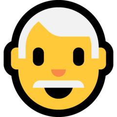 Man: White Hair Emoji on Windows