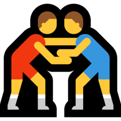 Men Wrestling Emoji on Windows