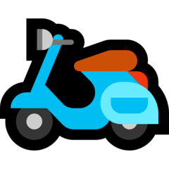 Motor Scooter Emoji on Windows
