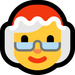 Mère Noël Émoji Windows