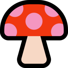 Mushroom Emoji on Windows