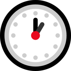 One O'clock Emoji on Windows