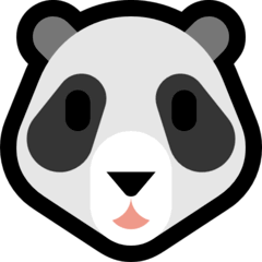 Tête de panda Émoji Windows