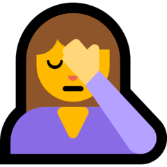 Person Facepalming Emoji on Windows