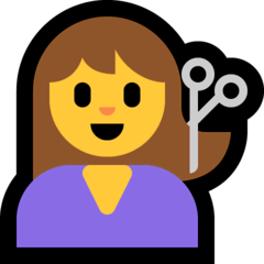 Person beim Friseur Emoji Windows