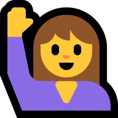 Persona levantando una mano Emoji Windows