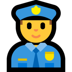 Agente de policía Emoji Windows