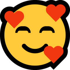 Smiling Face With Hearts Emoji on Windows
