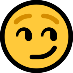 Cara con sonrisa de suficiencia Emoji Windows