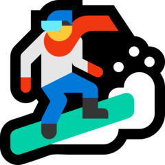 Snowboarder Emoji on Windows