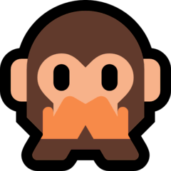 Singe qui ne dit rien de mal Émoji Windows