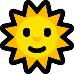 Sole con volto Emoji Windows