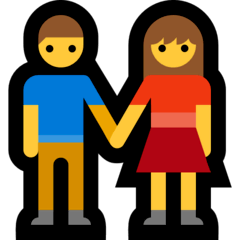 Woman And Man Holding Hands Emoji on Windows