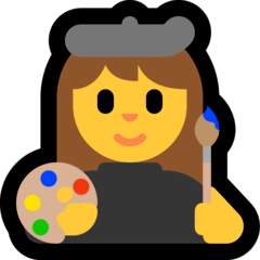 Woman Artist Emoji on Windows