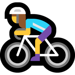 Ciclista donna Emoji Windows