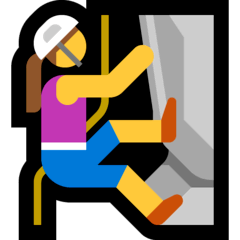 Woman Climbing Emoji on Windows