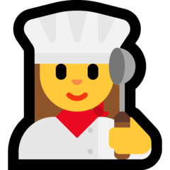 Woman Cook Emoji on Windows