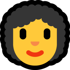 Frau mit lockigem Haar Emoji Windows