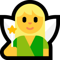 Woman Fairy Emoji on Windows