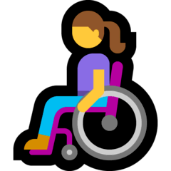 Woman In Manual Wheelchair Emoji on Windows