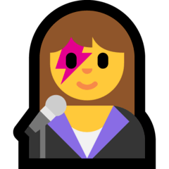 Cantante donna Emoji Windows
