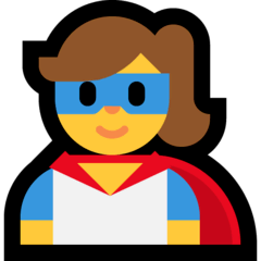 Super-héros femme Émoji Windows