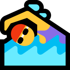 Woman Swimming Emoji on Windows