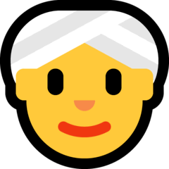 Mujer con turbante Emoji Windows