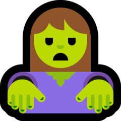 Woman Zombie Emoji on Windows