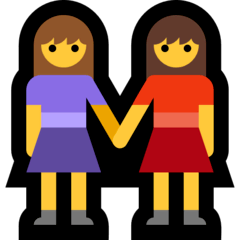 Women Holding Hands Emoji on Windows