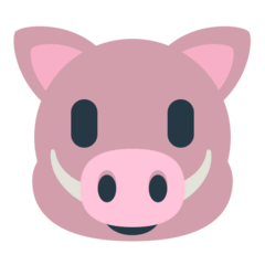 Boar Emoji in Mozilla Browser