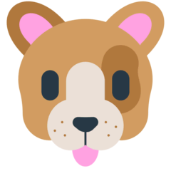 Dog Face Emoji in Mozilla Browser