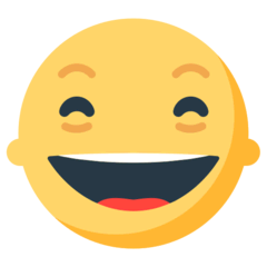 Grinning Face With Smiling Eyes Emoji in Mozilla Browser