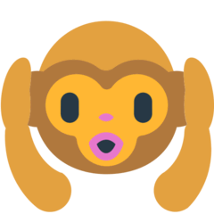 Hear-no-evil Monkey Emoji in Mozilla Browser