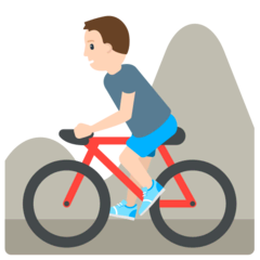 Person Biking Emoji in Mozilla Browser