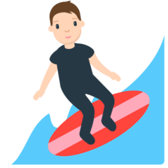 Person Surfing Emoji in Mozilla Browser