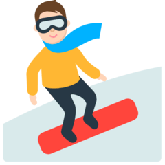 Snowboarder Emoji in Mozilla Browser