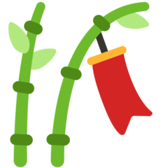 Tanabata Tree Emoji in Mozilla Browser